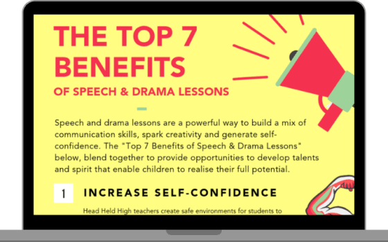 The top 7 benefits of speech & drama lessons