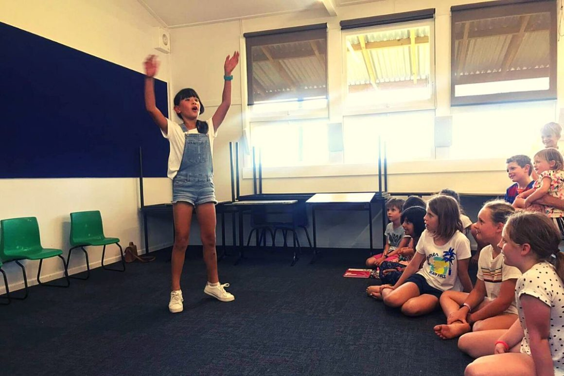 Public speaking is child's play